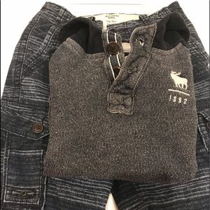 Set for two!Big Boy Cargo short&sweater